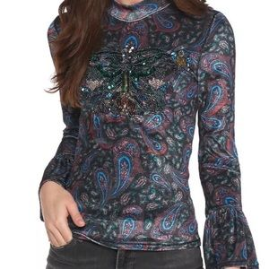 Free People We The Free L'Amour Velvet Tee Sequins